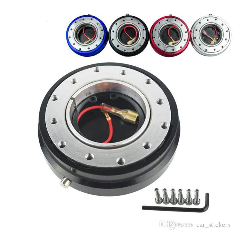 Тонкая версия 6-ступенчатое рулевое колесо Quick Release Адаптер Snap Off Boss kit Автомобильные аксессуары