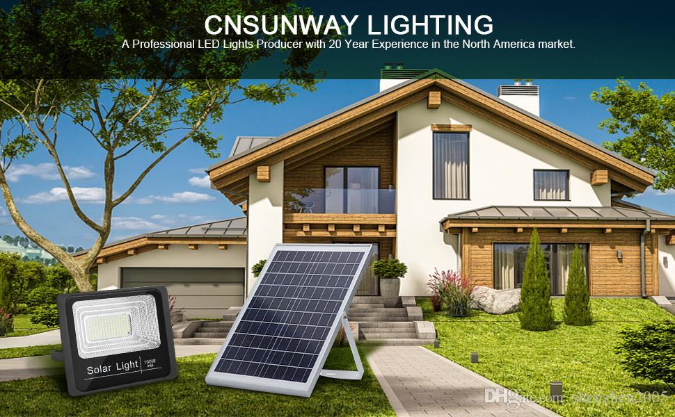 Солнечный свет Светодиодный прожектор 30W 50W 100W 200W Пульт дистанционного управления Прожектор Tuinverlichting уличный фонарь водонепроницаемый IP67