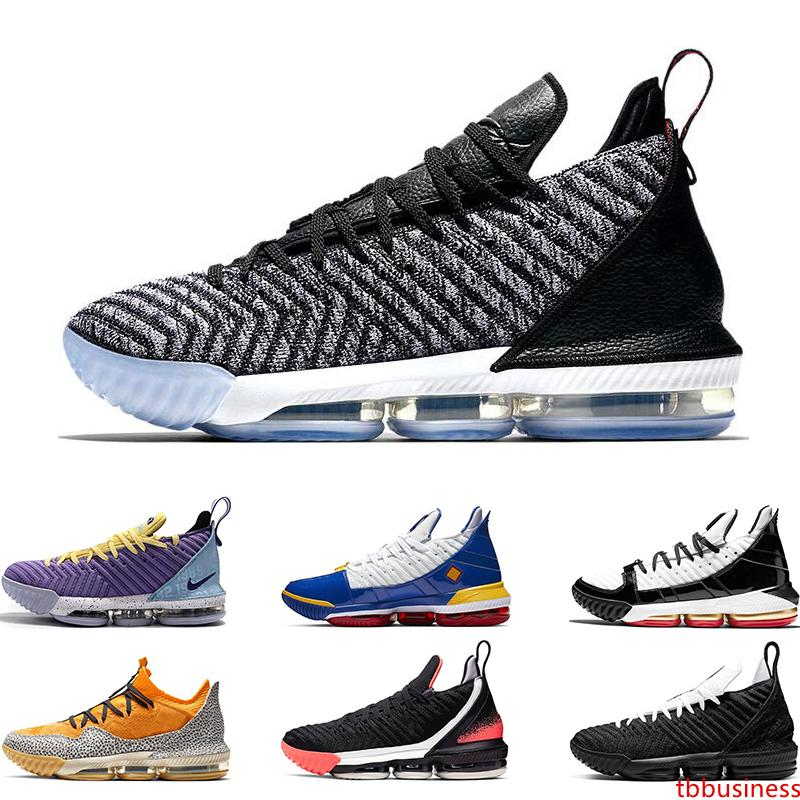 2019 neue arrivel Mens-Basketballschuhe 16 Oreo Remix SuperBron Hot Lava Four Horsemen HERITAGE SAFARI MARTIN Sport snekaers Trainer 7-12