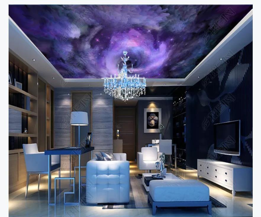 Custom 3D photo zenith wallpaper mural interior decoration Bella cielo stellato sogno camera da letto soggiorno zenith soffitto murale