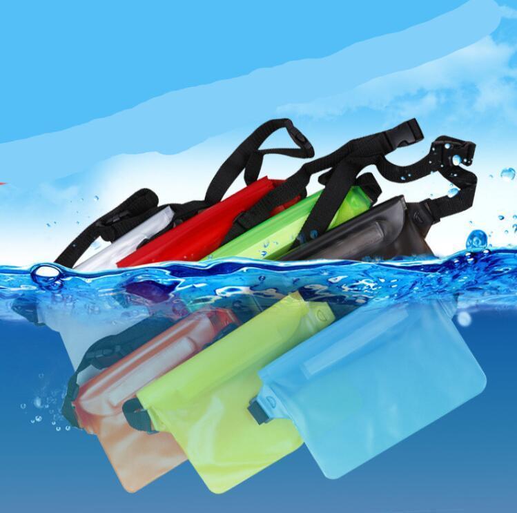 9 renk PVC Su geçirmez telefon WaistPacks Hareket Açık Spor Pocket Boş Paketi Omuz Çantası göğüs çanta telefon kılıfı