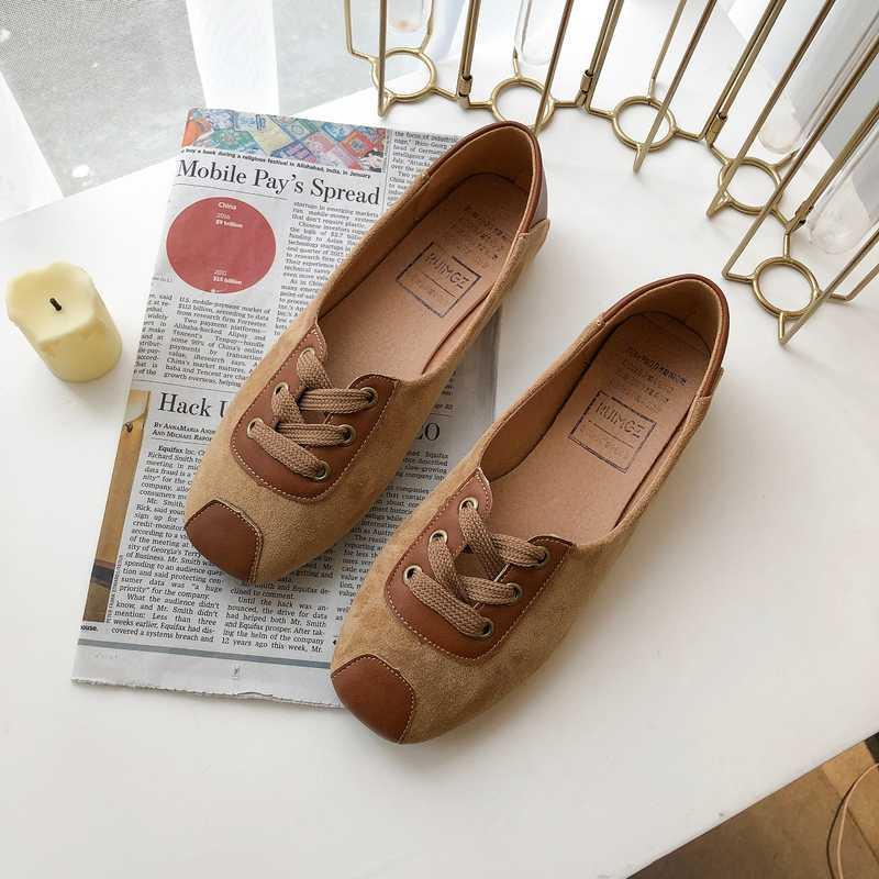 Calzado Moda Zapatos Lazy Stitching New Spring Flat Piso Casual Femenino Alta Calidad Venta de zapatos Puntos Puntos Puntos Puntos Mujeres W38-55 AAVPB