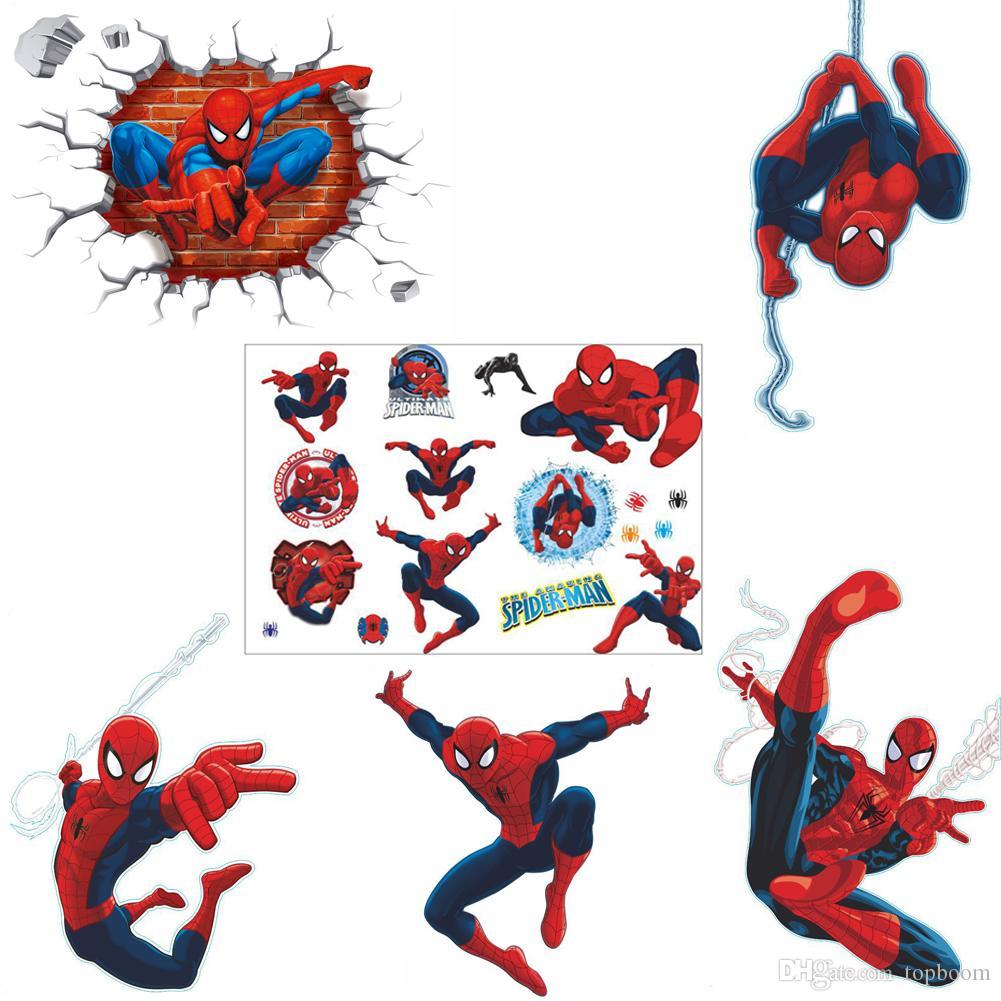 Grosshandel Wandaufkleber 3d Spider Man Aufkleber Home Wall Decor