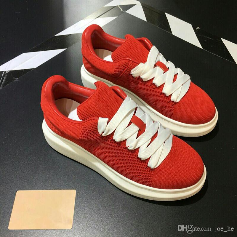 Горячая распродажа-роскошные теннисные туфли гонщик красная сетка Balck кожа Kanye West racer мужская повседневная обувь вечернее платье gs18102307