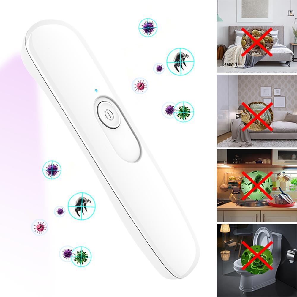 Maske Ev Seyahat için Taşınabilir UV Sterilizatör Lambası Mini UVC El Ultraviyole Antiseptik Lambası UV LED Dezenfeksiyon Lambası Temizleyici Aydınlatma