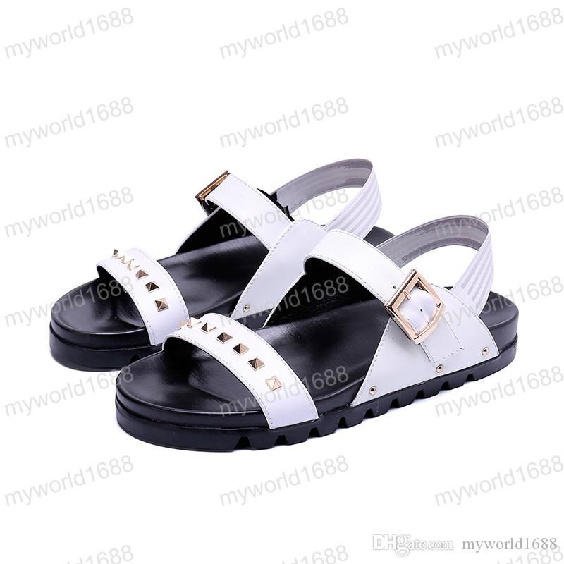 2019 новый стиль мода гладиатор сандалии летние мужчины уличной обуви Zip Rome дышащий пляж плоские сандалии мужской