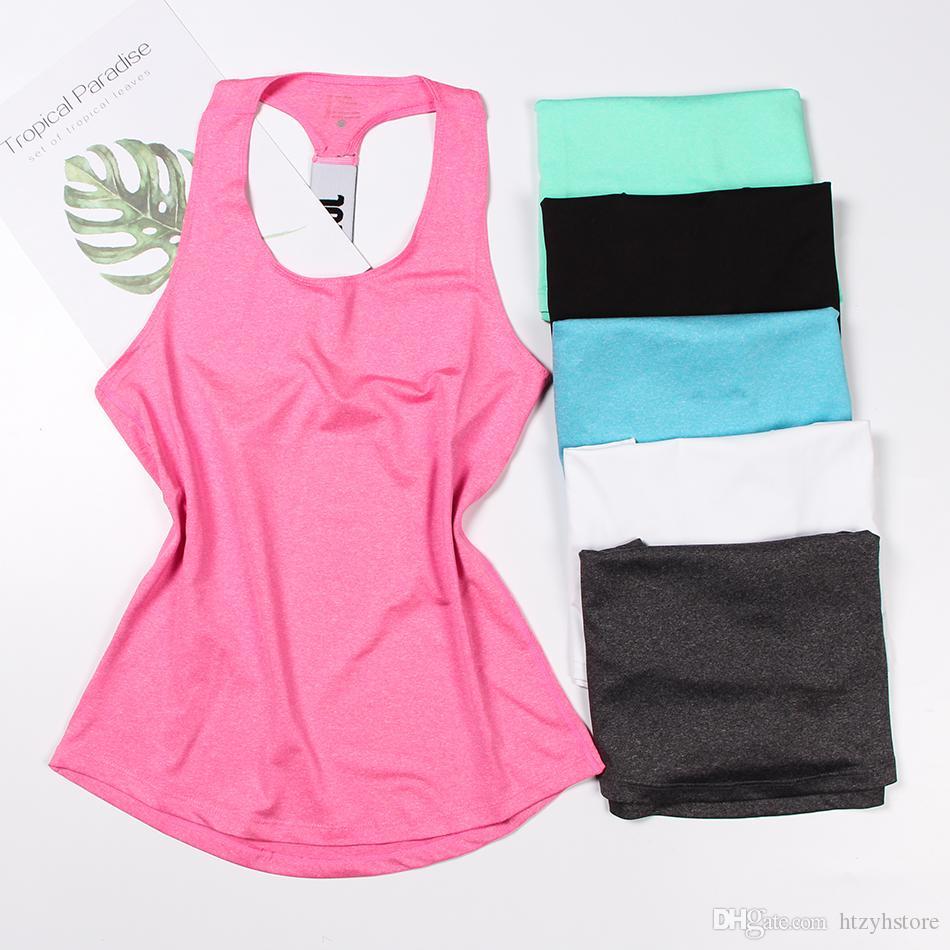 Maglietta sportiva senza maniche maglia sportiva da yoga Donna Maglietta sportiva da palestra Maglietta sportiva da donna Canotta sportiva da yoga