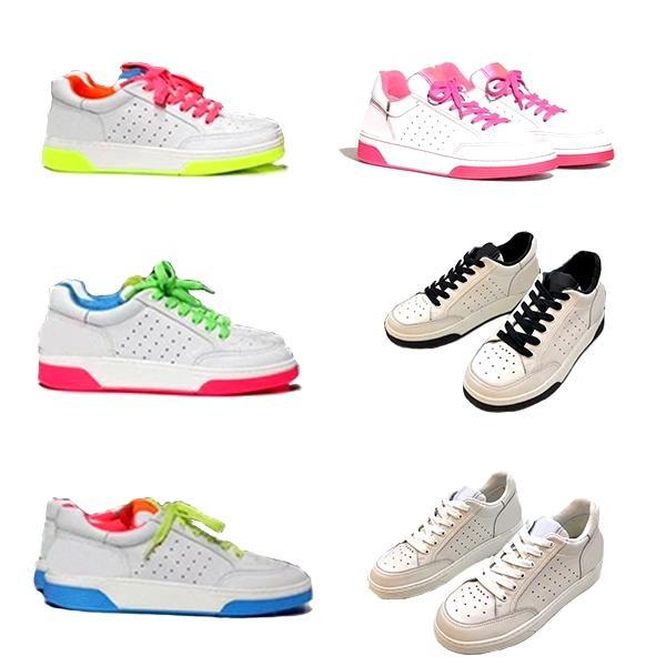 Femmes Chaussures Véritable plates en cuir Plate-forme Sneaker Blanc Noir Top qualité Lady colorés à lacets Eric Koston Chaussures Casual EU35-40