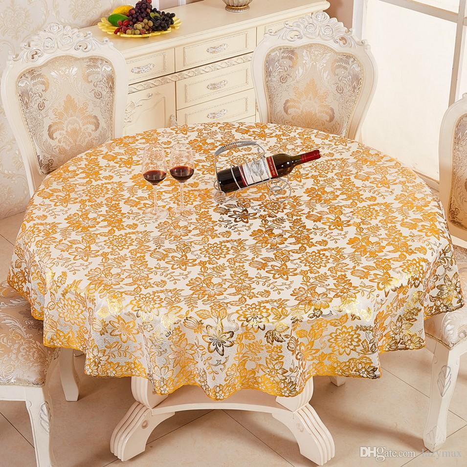 PVC Waterproof And Oil Proof Table Cloth 4 Designs Dining Room Non-slip Table Print Fabric Ceremony Red Wine Table Cloth