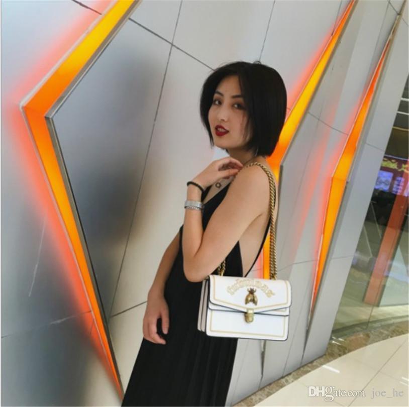 Designer- Womens Shoulder Bags Womens Luxury Designer Bag Handbags Newset Fashion Cross Arm Embroidery Bee High Quality Leather 2