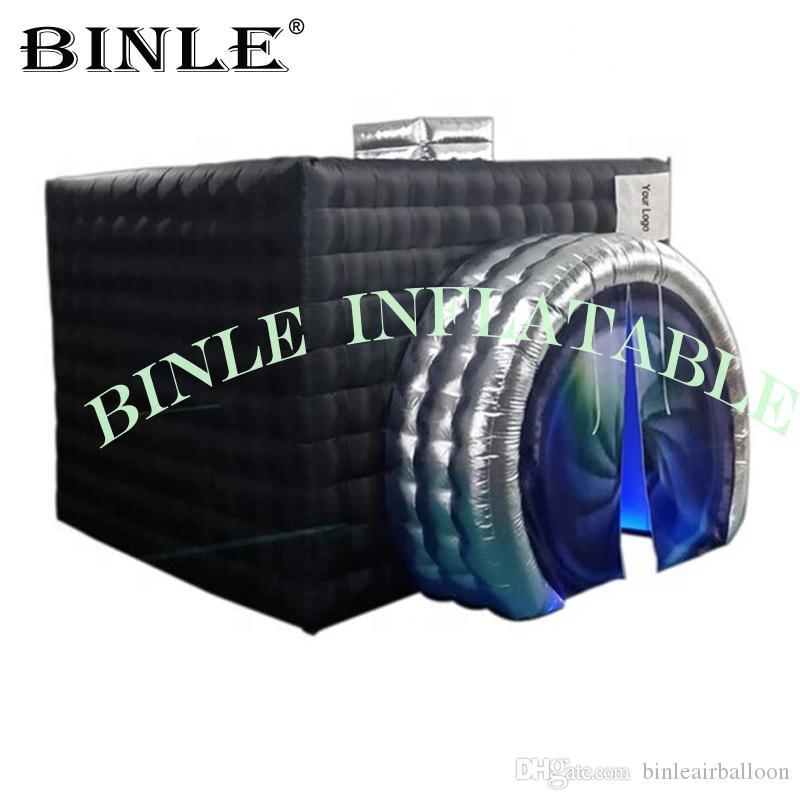 Nuovo stile figura della macchina fotografica Inflatable Photo Booth gonfiabile cubo tenda recinto di nozze portatile per partito eventi (1 Logo Free)