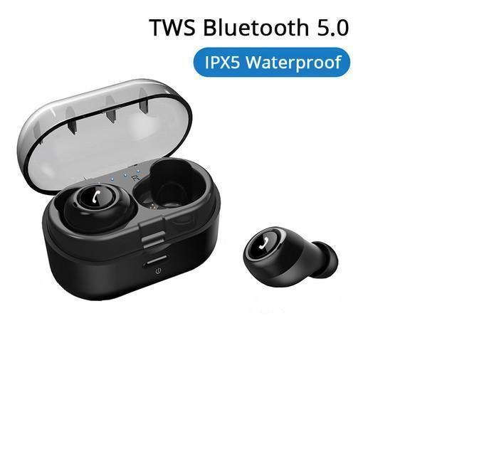 HOT CP-7 TWS Bluetooth 5.0 Earphone Wireless Earbuds Deep Bass 3D Stereo Headset Sport Handsfree Headphone with Dual Microphone for Phone