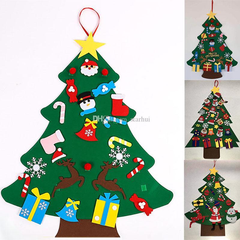 DIY는 크리스마스 장식 어린이 매뉴얼 액세서리 (7) 스타일 WX9-1588 매달려 크리스마스 트리와 장식품 크리스마스 선물 새해 문 벽 펠트