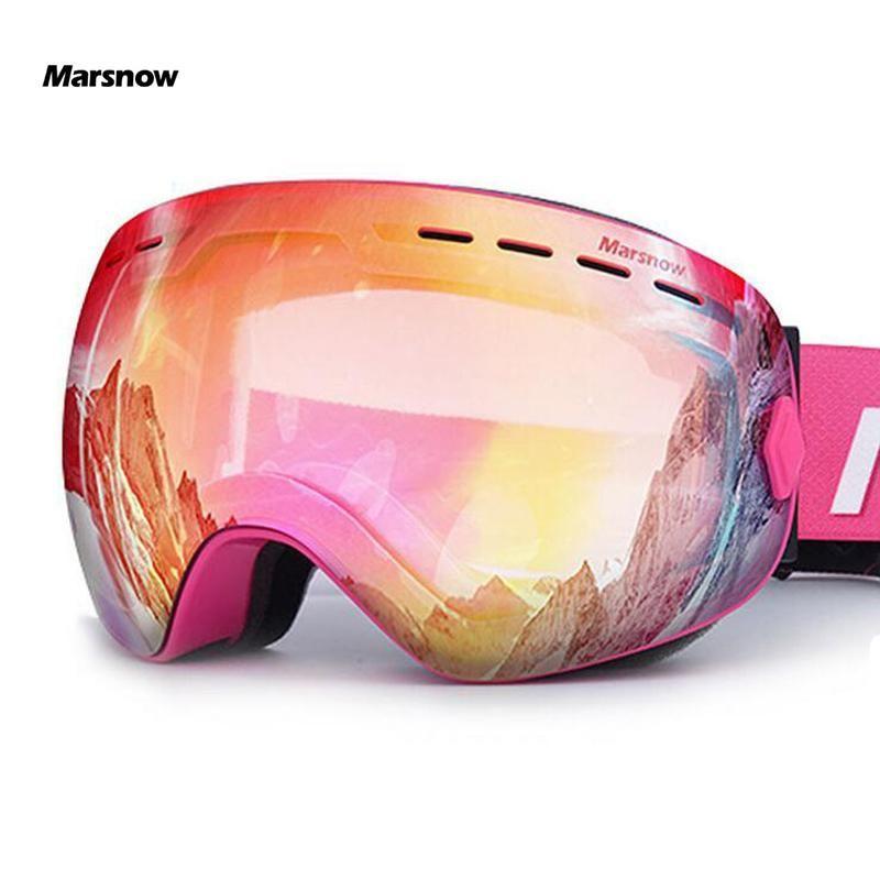 تزلج نظارات مزدوجة UV400 مكافحة الضباب التزلج عدسة قناع نظارات التزلج الرجال النساء الأطفال فتى فتاة الثلج على الجليد نظارات