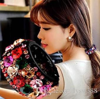 36pcs / lot bricolage multi Diamante Barrettes Prêle Boucle ronde Drill Accessoires cheveux Soins des cheveux Styling HA566