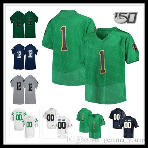 2021 NCAA ND College Football Jersey Ian Book Phil Jurkovec Tony Jones Jr. Braden Lenzy Jahmir Smith C'Bo Flemister Jafar Armstrong Claypool