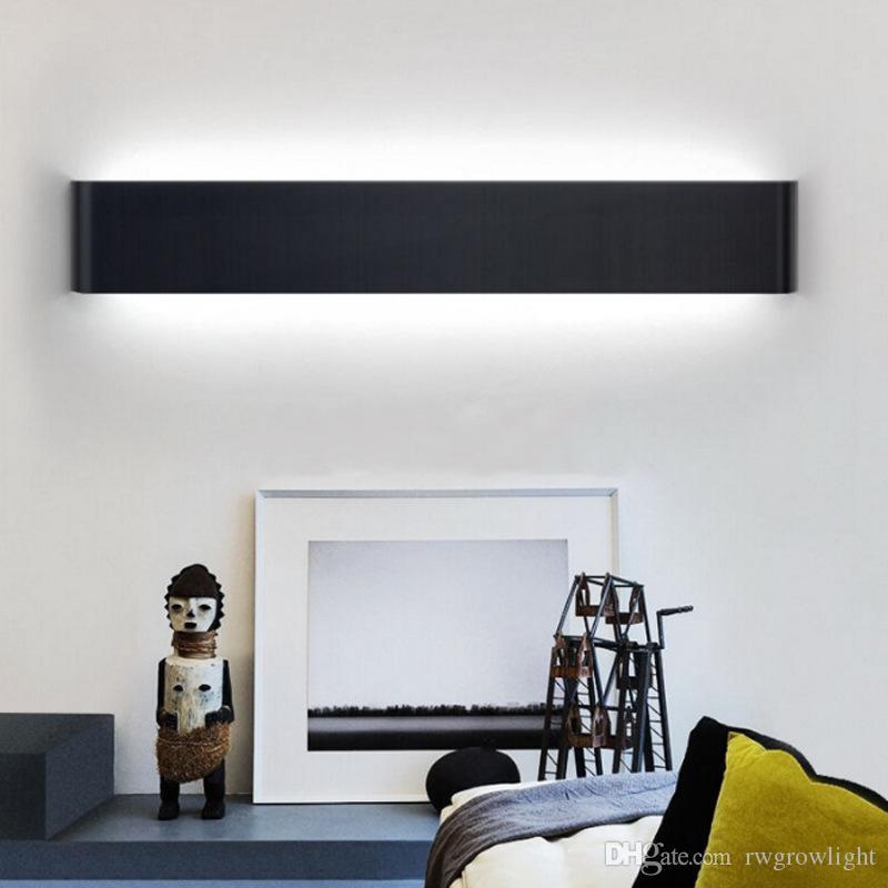 larga pared LED luz de la habitación minimalista lámpara de la mesilla de espejo del pasillo del pasillo moderno nórdico frontal baño de luz de escalera AL19 lámpara