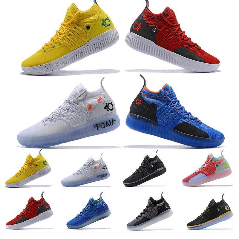 2020 أحذية KD 11 EP الأبيض أورانج رغوة الوردي المذعور أوريو ICE الرجال لكرة السلة كيفن دورانت XI KD11 الرياضة الرجال حذاء رياضة حجم 40-46