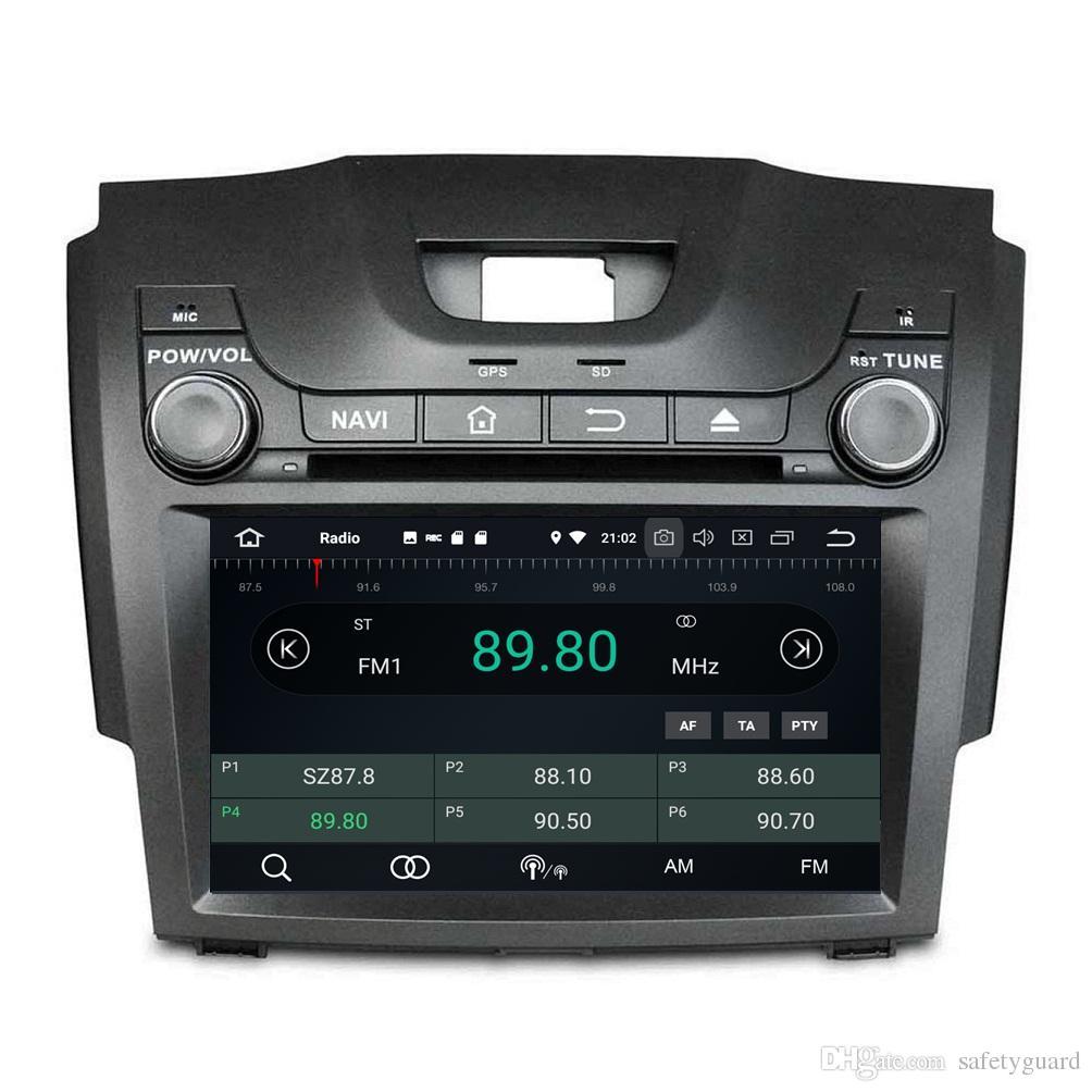 4GB + 64GB Octa Core 안드로이드 8.0 차량용 DVD 플레이어 Chevrolet S10 Isuzu D-Max 2013 2014 2015 2016 2017 RDS 라디오 GPS 4G WIFI 블루투스 USB