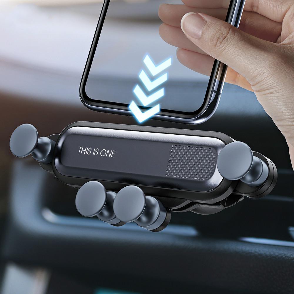 Gravity-Auto-Halter für Telefon in Auto Entlüfter Cliphalterung No Magnetic Handyhalter GPS Standplatz für iPhone XS MAX Xiaomi