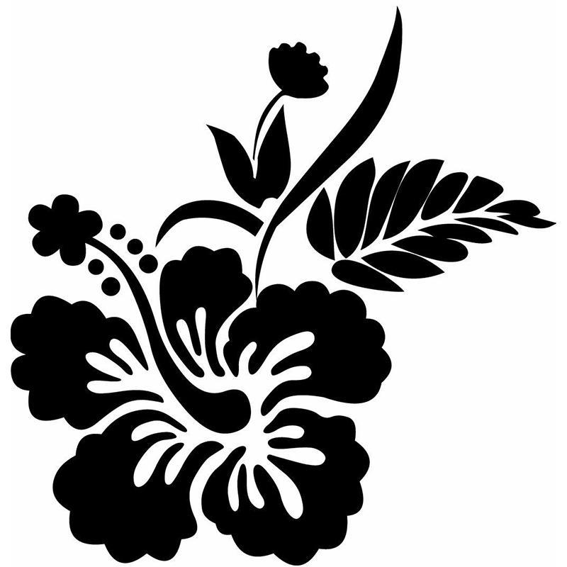 15 * 14.6cm이 자동차 비닐 데칼 비닐 자동차 랩 장식 데칼의 히비스커스 꽃 디자인 비닐 절단 스티커 나 데칼 중대하다