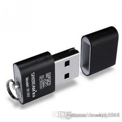 휴대용 미니 USB 2.0 마이크로 SD TF T-플래시 메모리 카드 리더 어댑터 플래시 드라이브 SD 플래시 메모리 도매 블랙
