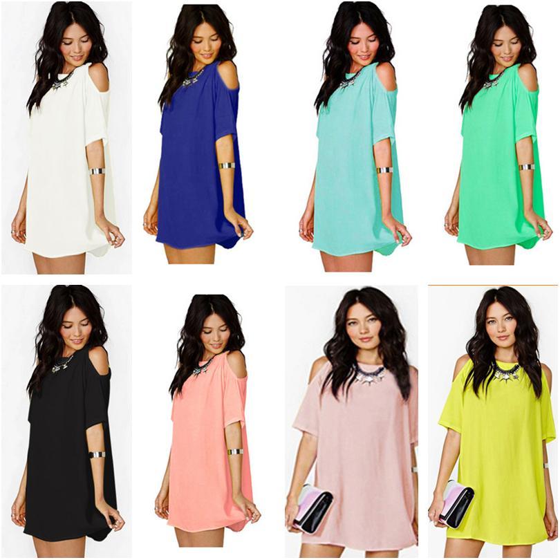 2020 Frauen Kleidung lose Hemden Bluse kurze Ärmel Chiffon-Kleid Designer beiläufige Art und Weise Kurzarm T-Shirt mit Rundhalsausschnitt-T-Shirts Top CZ605