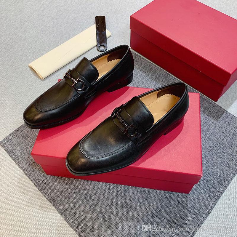 2020 Art und Weise Luxus-Designer-Männer Schuhe Herren-Leder-Schuhe-Designer-Geschäft Oxfords Casual Formal Schuhgröße 45