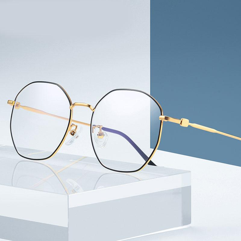Anti-azul protector vidrios Hombre Mujer marca de diseño irregular vidrios ópticos Blu-ray de protección gafas de equipo Gafas Gafas de Estudiante
