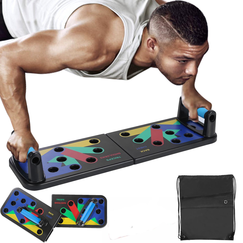 في دفع السهم بنسبة مجلس 9 في 1 بناء الجسم الرئيسية الشامل معدات اللياقة البدنية ممارسة Fodable قابل للتعديل دفع ما يصل منصات تجريب رياضة