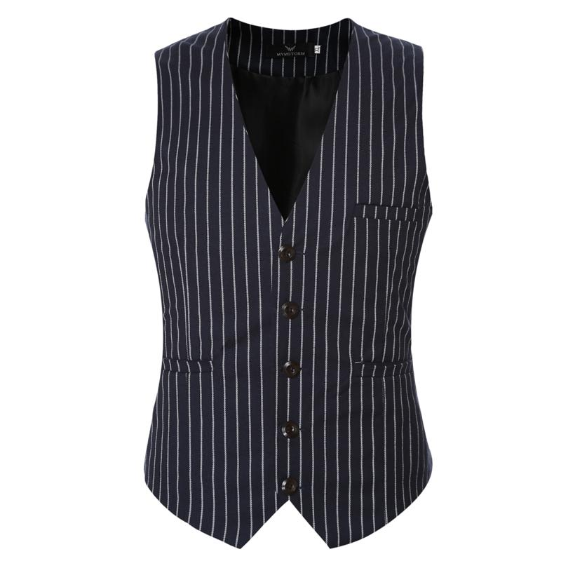 New Clothing Suit Vests Men Fashion Formal Prom Party Striped Slim Fit Single Breasted Dress Vest
