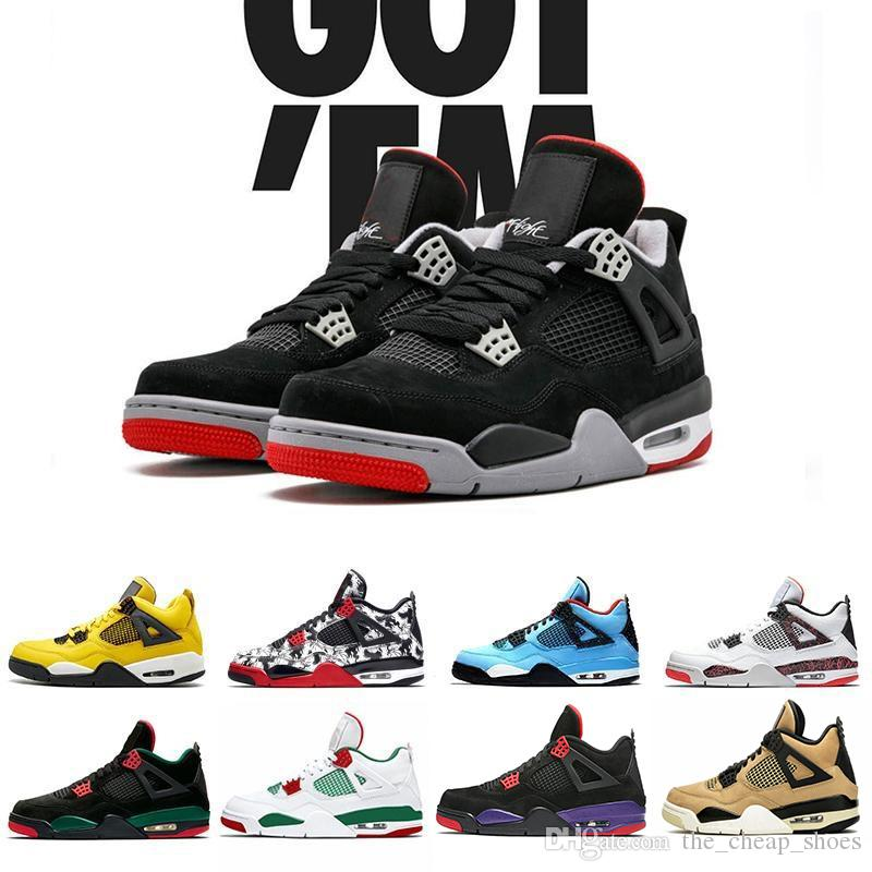 Cheap Sale 4 IV Basketball Shoes Sports Sneakers Men 4s Zapatillas Authentic BLACK MOTORSPORT GAME ROYAL BLUE shoes