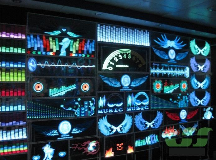 새로운 2017 년 화려한 플래시 자동차 음악 리듬 빛 자동차 스티커 LED 사운드 활성화 EL 시트 이퀄라이저