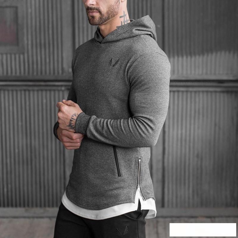 2019 neue Ankunfts-ASRV Männer lange Hoodies Hoodies beiläufige Sweatershirt Fitness Kleidung Männer Sweatshirt mit Kapuze Muskel-Mantel