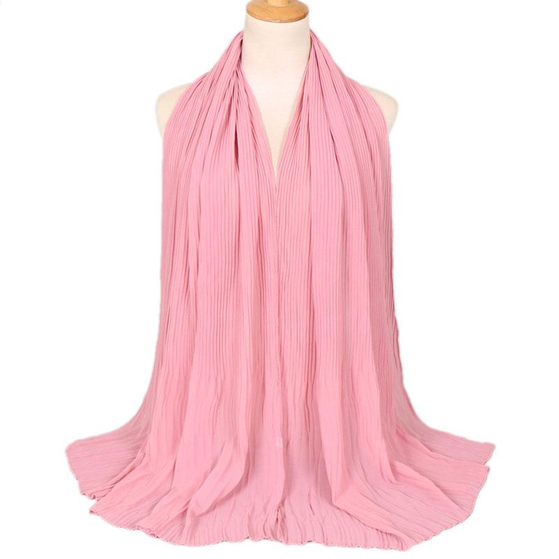 2019 Fashional Low price solid color fold malaysian scarf hot selling breathable muslim hijab for women wholesale mix color
