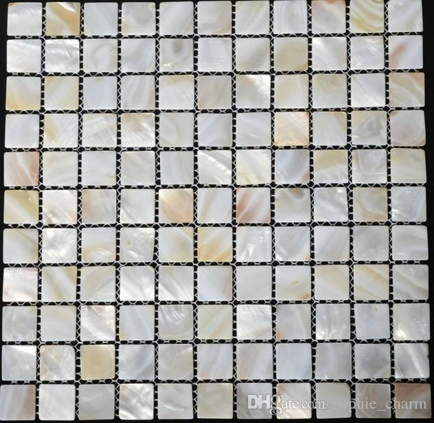 25mm 1 inch white mother of pearl tiles kitchen backsplash shell mosaic bathroom flooring tiles MOP001