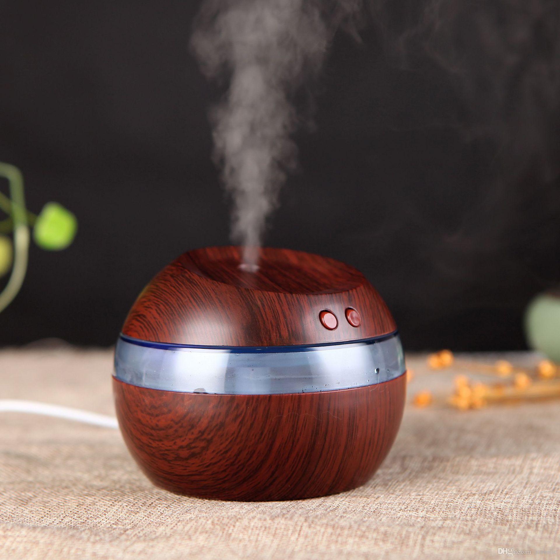 Atacado 300ml USB ultra-sônico Umidificador Aroma Difusor Essential Oil Difusor fabricante Aromaterapia névoa com frete LED azul claro gratuito