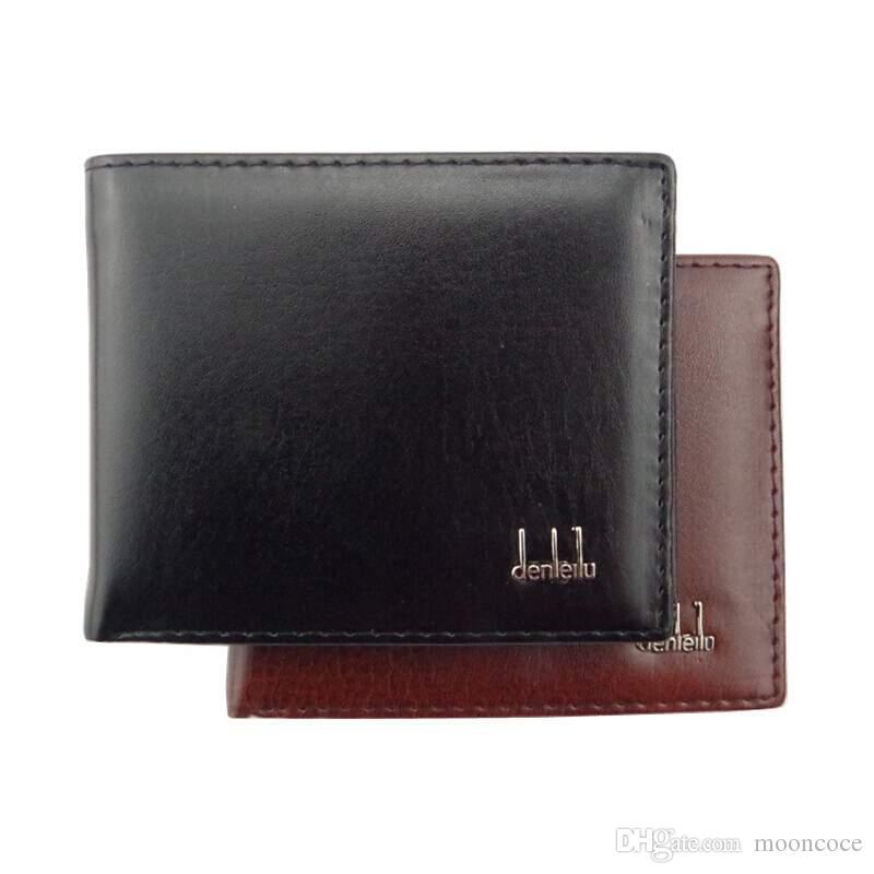 Beförderung! Kurzschluss-beiläufige Designer Kartenhalter Tasche Mode-Geldbeutel-Mappen für Männer