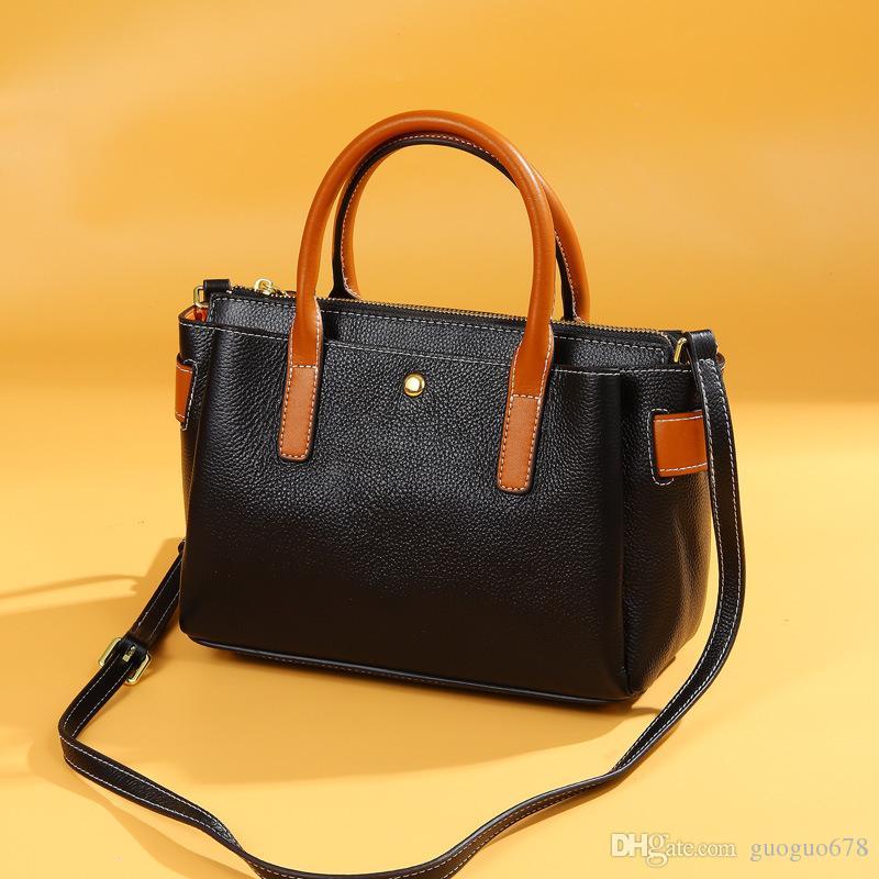 European And American Large Capacity Single Shoulder Leather Lady Bag Tote Bag Ladies Hand Cross Bag
