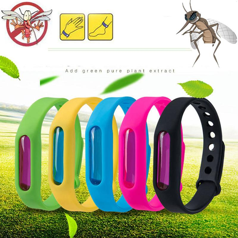 Anti Mosquito Pest Insect Bugs Repellent Repeller Wrist Band Bracelet Wristband Protection mosquito Deet-free non-toxic Safe Bracelet