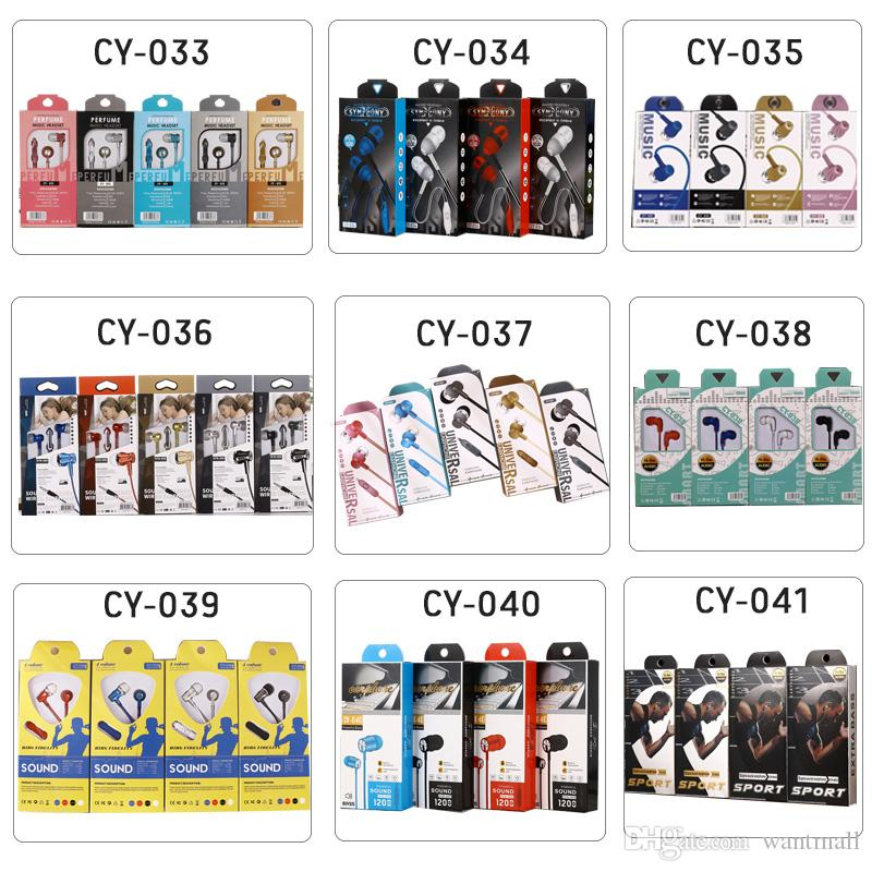 wholesale Earphones earbuds Earphone 3.5mm Headphones In-Ear headset with mic for Mp3 Mp4 Cell phone tablet