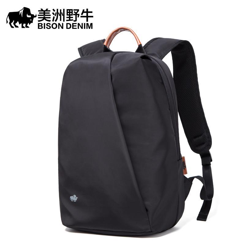 Зубр джинсовой моды анти вор рюкзак мужчины досуг путешествия рюкзак школьные сумки подросток мужчины 14-дюймовый ноутбук N2910-1