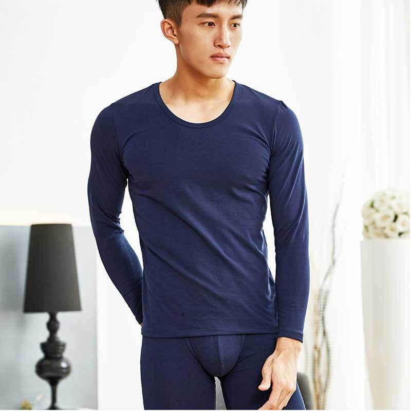 Mens Fashion Thermal Underwear Cotton Long Johns Pants