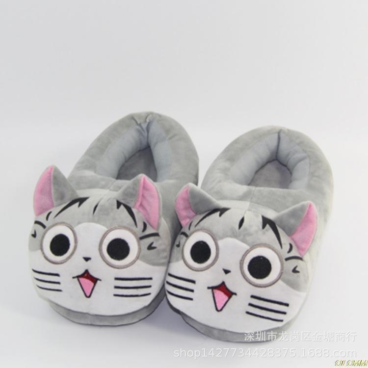 Drop Totoro nette Katze-Karikatur-Tier-Frauen / Männer Paare Startseite Slipper für Innenhaus Schlafzimmer Wohnungen warme Winterschuhe MX200425