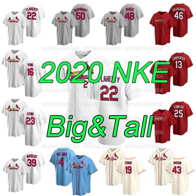 28 Nolan Arenado Jersey de béisbol personalizado Jack Flaherty Big Tall S a 6XL Paul Goldschmidt Marcell Ozuna Wong Yadier Molina Edman Dejong Hudson Carpenter Wainwright