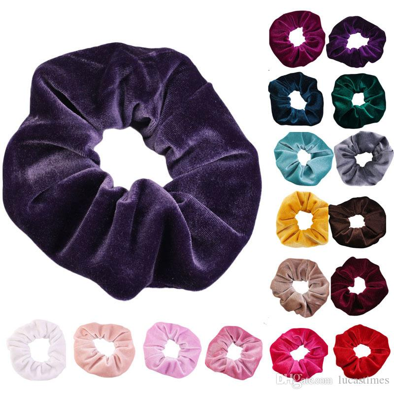 Новый детский бархатный оголовье 20 цветов эластичные повязки волос эластичные волосы эластичные волосы веревки для волос Подростки волос полосы волос головные уборы русалки блестки головы