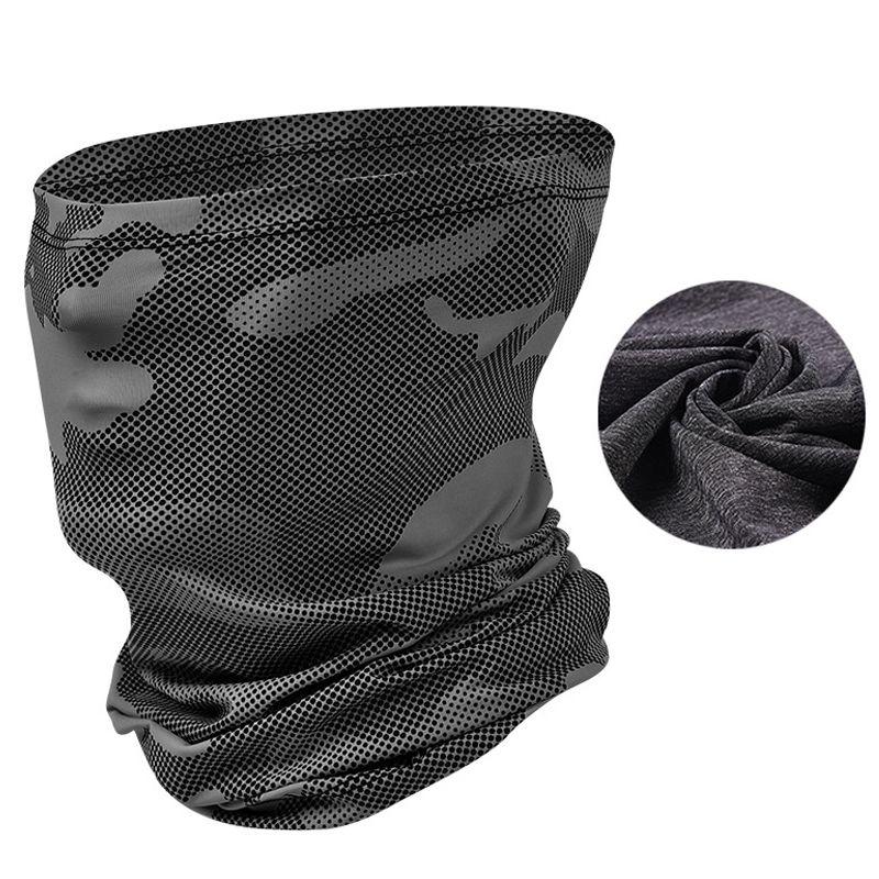 New Ice pesca Mask Sciarpa Camouflage sciarpa magica Viso Buff protezione UV antipolvere escursionismo escursioni in bicicletta Bandana Viso