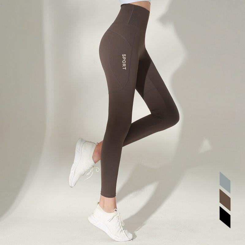 Hip Lifting Fitness Pants Female Gao Elastic Force Sports Tight Pants Speed Dry Running Training Gao Waist Abdomen Yoga Trousers