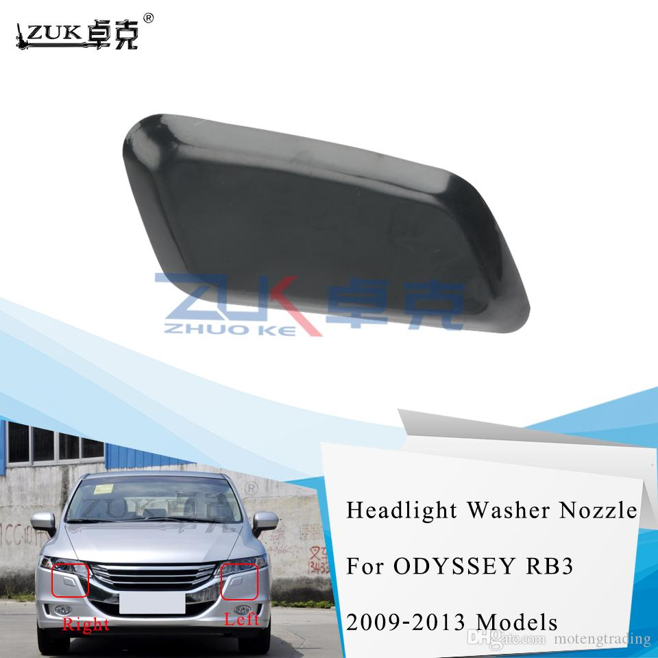 ZUK Front Bumper Headlight Headlamp Washer Nozzel Cover Cap For HONDA ODYSSEY RB3 2009 2010 2011 2012 2013 2014 None Painted