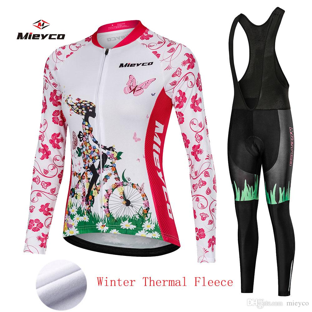 Vêtements pour femmes Bike Route Sets 2020 Femme Maillot Cyclisme Pad Gel bavoir Pantalons Kits Costumes Vêtements Vêtements cycliste VTT Maillot Tenues